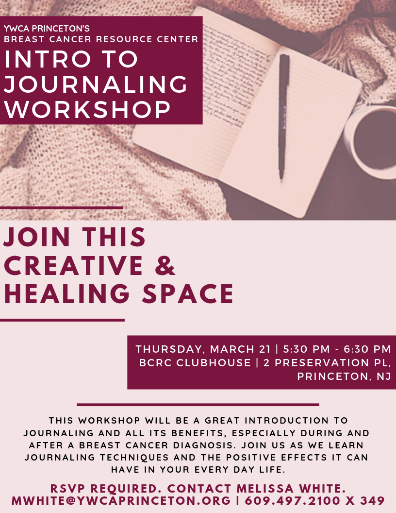 Intro To Journaling Workshop - BCRC @ Breast Cancer Resource Center | Princeton | New Jersey | United States
