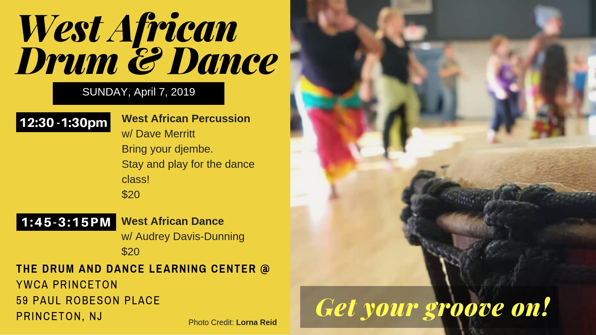 West African Percussion @ YWCA Princeton | Princeton | New Jersey | United States
