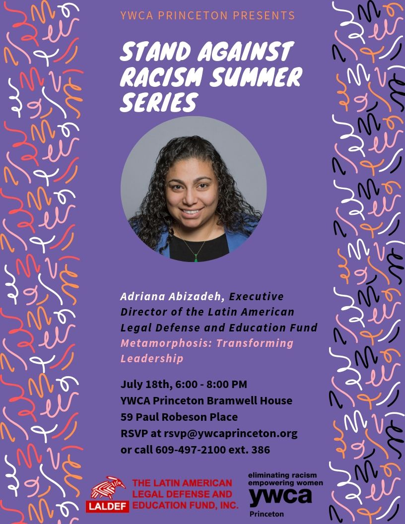 Stand Against Racism Summer Series @ YWCA Princeton