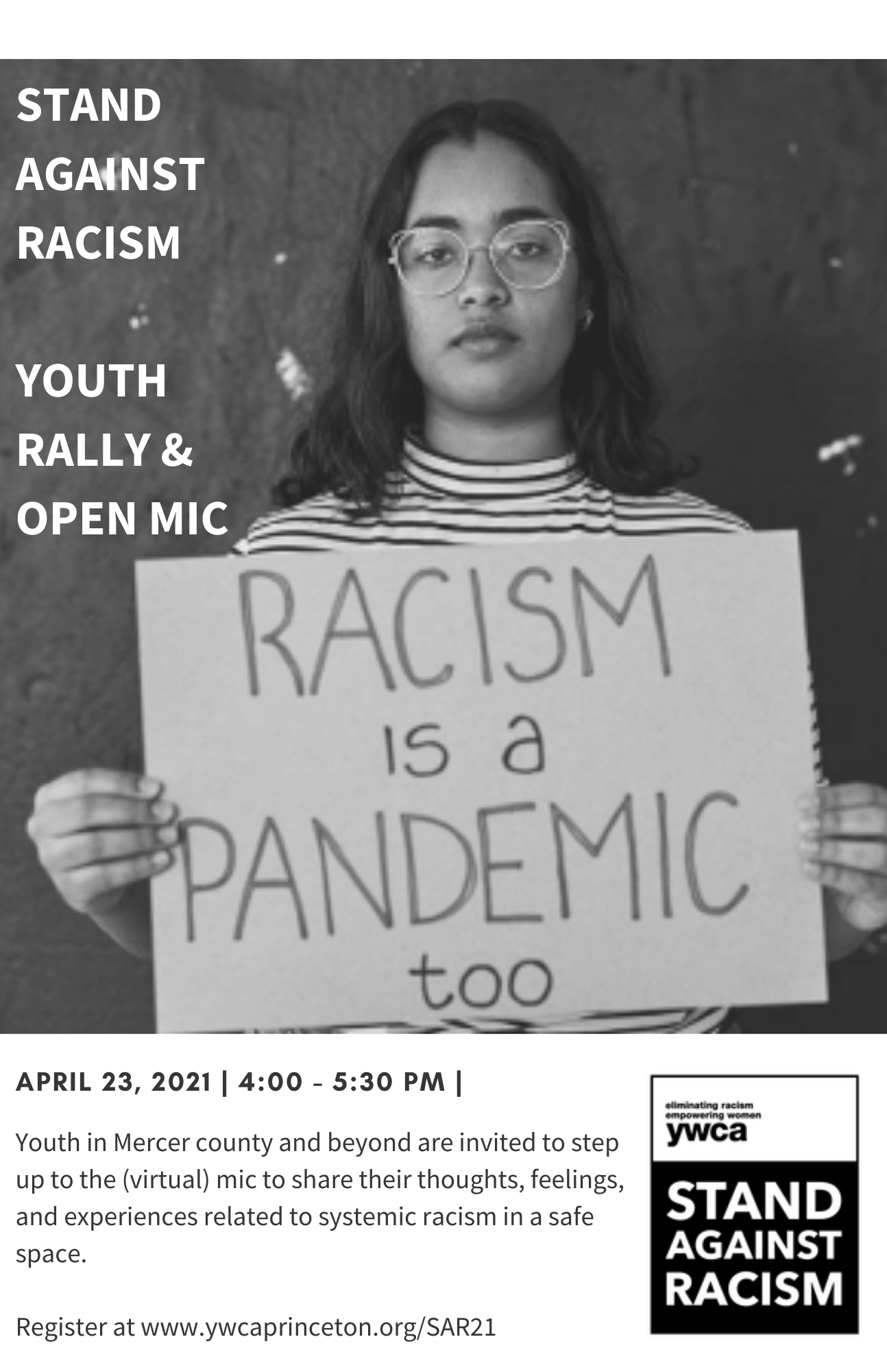 Stand Against Racism: Youth Rally and Open Mic